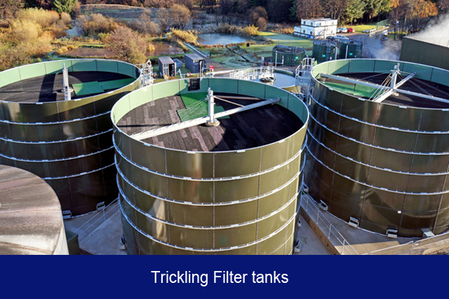 NEW1. Trickling filter tanks