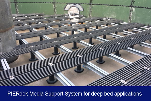 NEW2. PIERdek media support system for deep bed applications